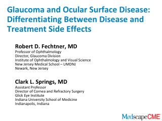 Glaucoma and Ocular Surface Disease: Differentiating Between Disease and Treatment Side Effects