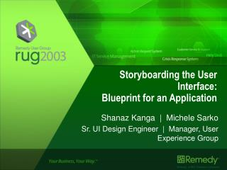 Storyboarding the User Interface: Blueprint for an Application