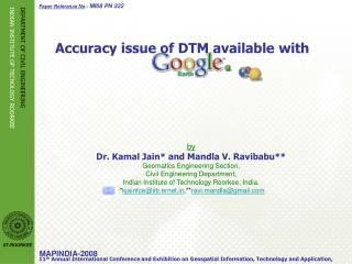 Accuracy issue of DTM available with