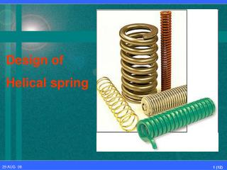 Design of Helical spring