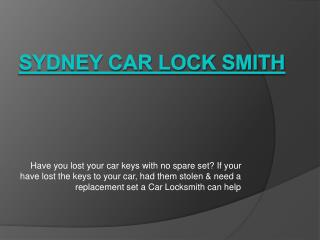 Sydney Car Lock Smith