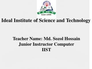 Ideal Institute of Science and Technology