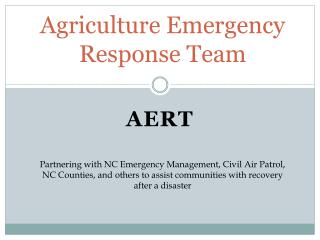 Agriculture Emergency Response Team