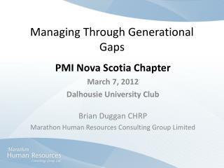 Managing Through Generational Gaps