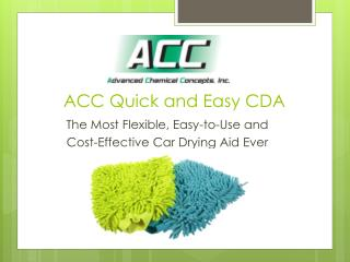 ACC Quick  and Easy CDA