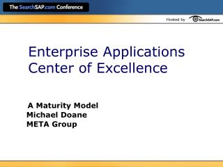 Enterprise Applications Center of Excellence