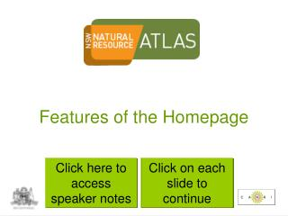 Features of the Homepage