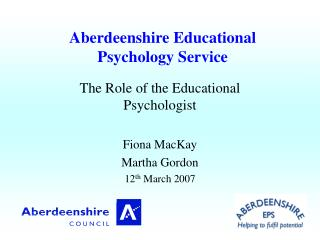 Aberdeenshire Educational Psychology Service