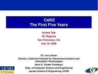 Calit2 The First Five Years