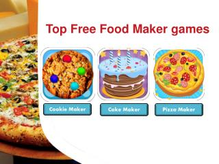 Top Free Food Maker Games