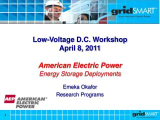 Low-Voltage D.C. Workshop April 8, 2011