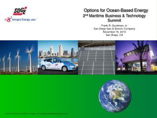 Options for Ocean-Based Energy 2 nd  Maritime Business & Technology Summit