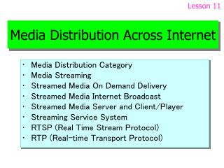 Media Distribution Across Internet