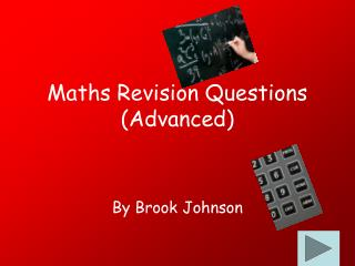 Maths Revision Questions (Advanced)