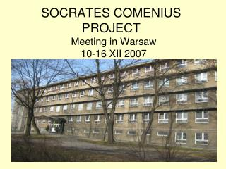 SOCRATES COMENIUS PROJECT