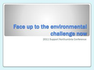 Face up to the environmental challenge now