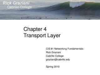 Chapter 4 Transport Layer