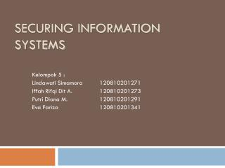 Securing information systems
