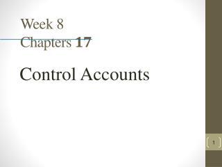 Week 8 Chapters 17