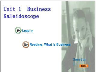 Unit 1  Business Kaleidoscope