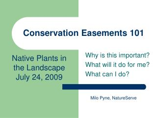 Conservation Easements 101