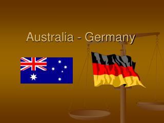 Australia - Germany