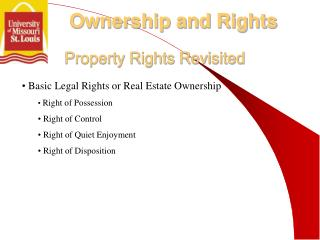 Property Rights Revisited