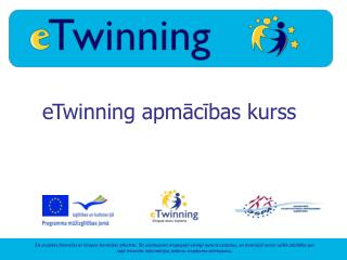 eTwinning apmācības kurss