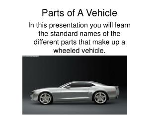 Parts of A Vehicle