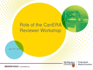 Role of the CanERA Reviewer Workshop