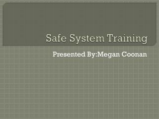 Safe System Training