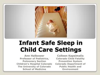 Infant Safe Sleep in Child Care Settings