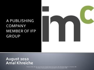 A PUBLISHING COMPANY MEMBER OF IFP GROUP
