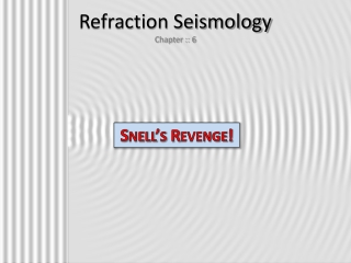 Refraction Seismology Chapter :: 6