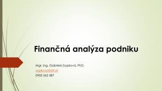Finančná analýza podniku