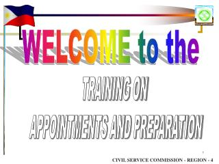 TRAINING ON  APPOINTMENTS AND PREPARATION