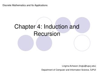 Chapter 4: Induction and Recursion