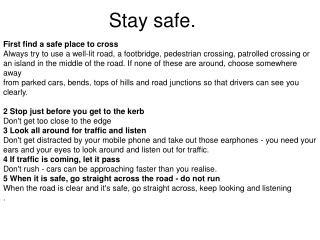 Stay safe.