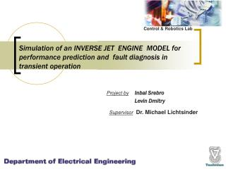 Simulation of an INVERSE JET  ENGINE  MODEL for  performance prediction and  fault diagnosis in  transient operation