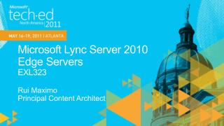 Microsoft Lync Server 2010  Edge Servers EXL323