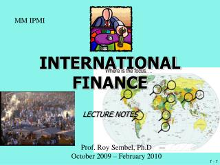 INTERNATIONAL FINANCE LECTURE NOTES