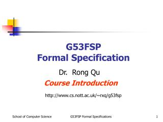 G53FSP Formal Specification