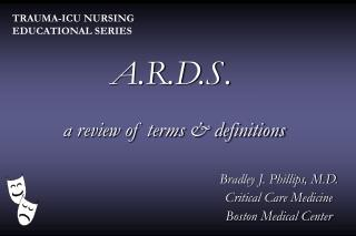 A.R.D.S.  a review of terms & definitions