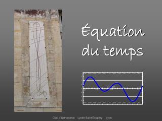 Équation du temps