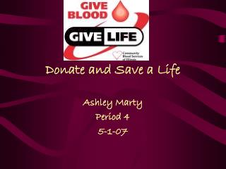 Donate and Save a Life