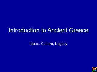 Introduction to Ancient Greece
