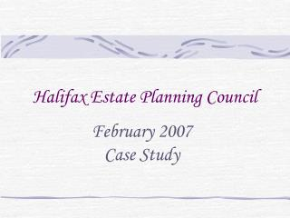 Halifax Estate Planning Council