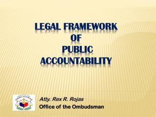 LEGAL FRAMEWORK  of  PUBLIC  ACCOUNTABILITY
