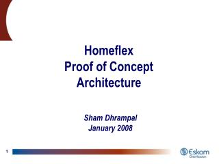 Homeflex Proof of Concept Architecture