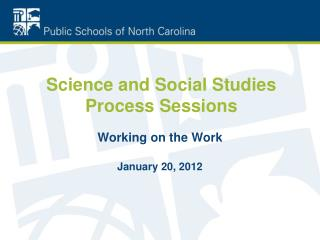 Science and Social Studies  Process  Sessions